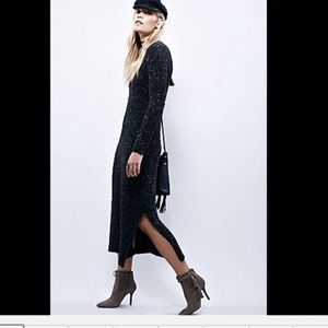 Free people sweater dress Maxi